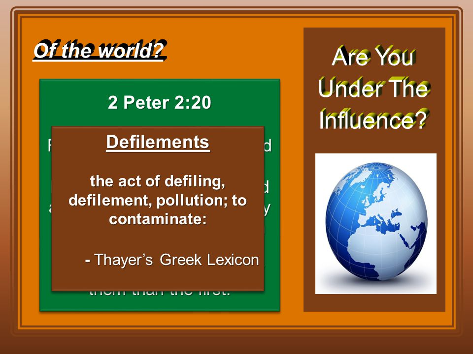 the act of defiling, defilement, pollution; to contaminate: