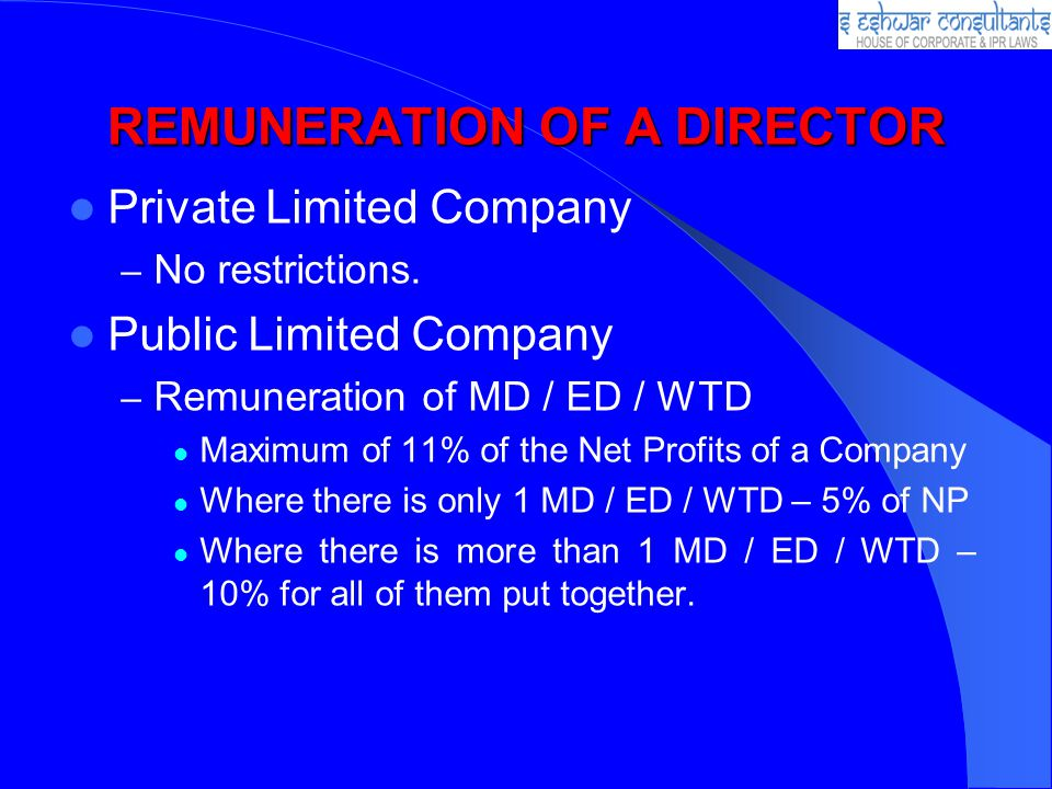 REMUNERATION OF A DIRECTOR