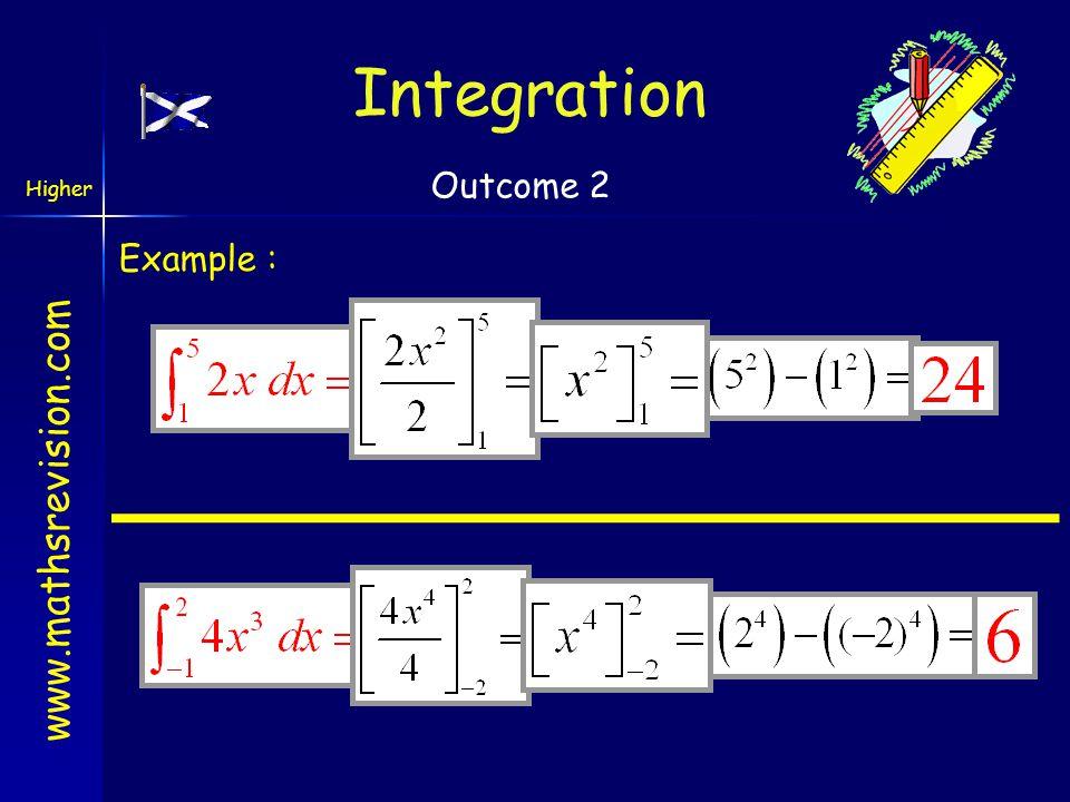 Integration Outcome 2 Example :