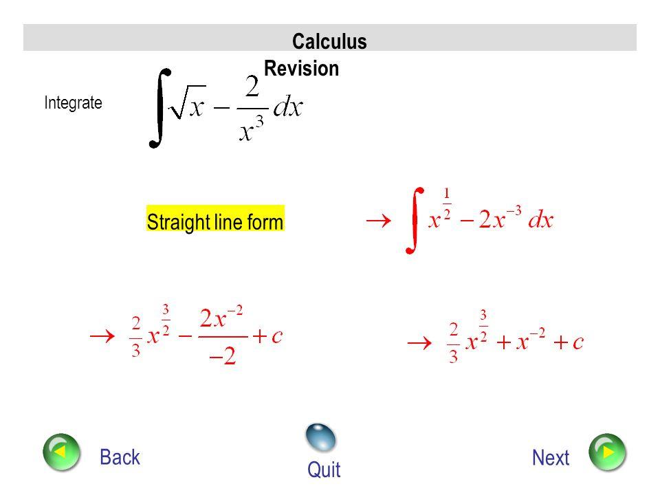 Calculus Revision