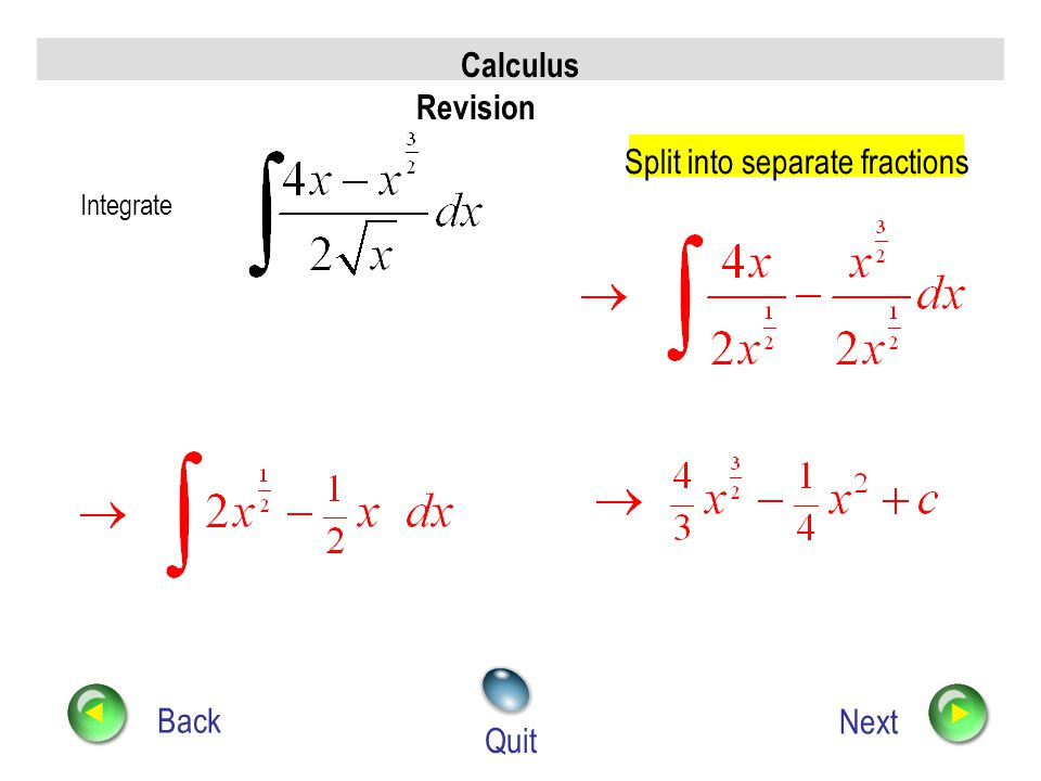 Split into separate fractions