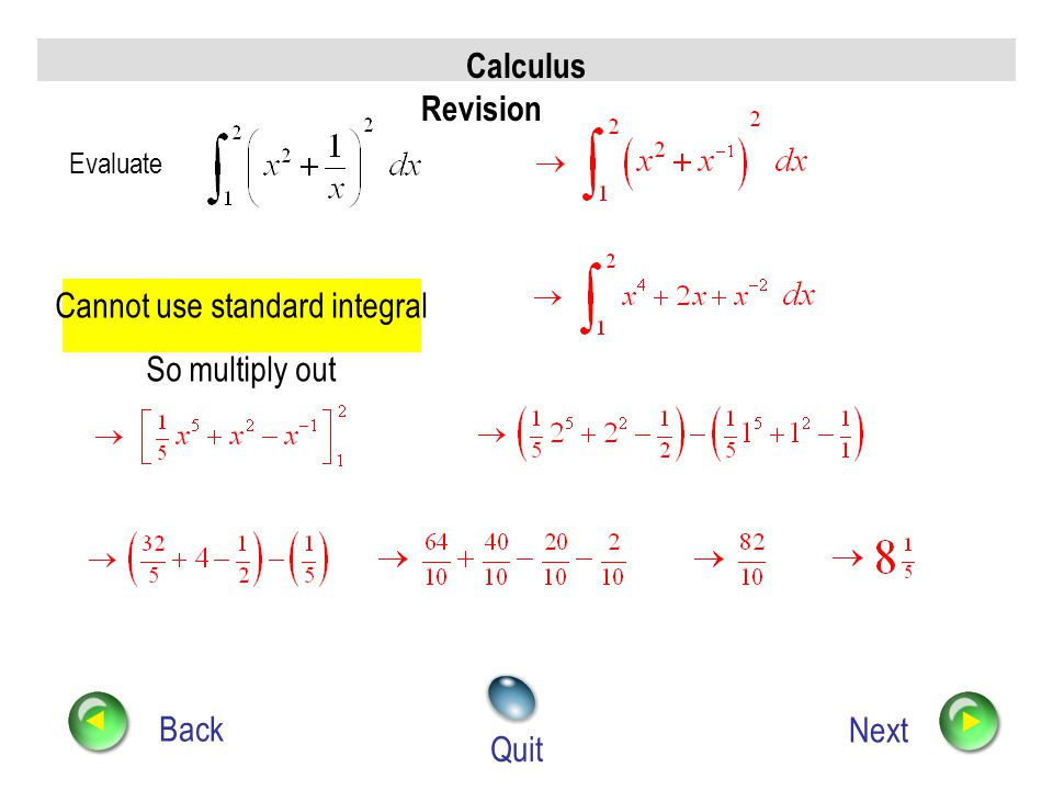 Cannot use standard integral