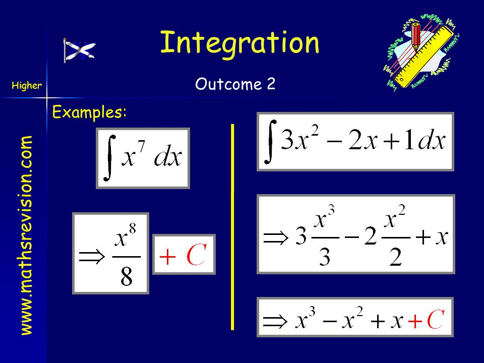 Integration Outcome 2 Examples: