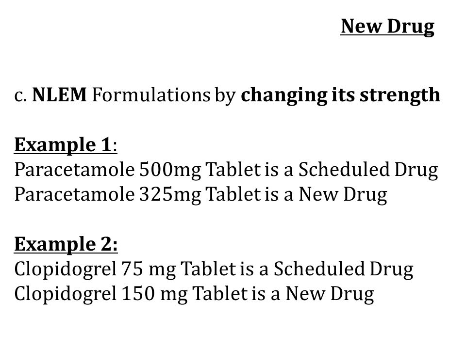 New Drug