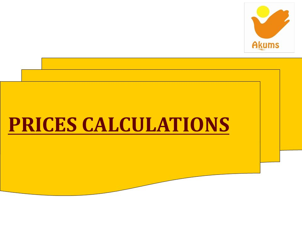 PRICES CALCULATIONS