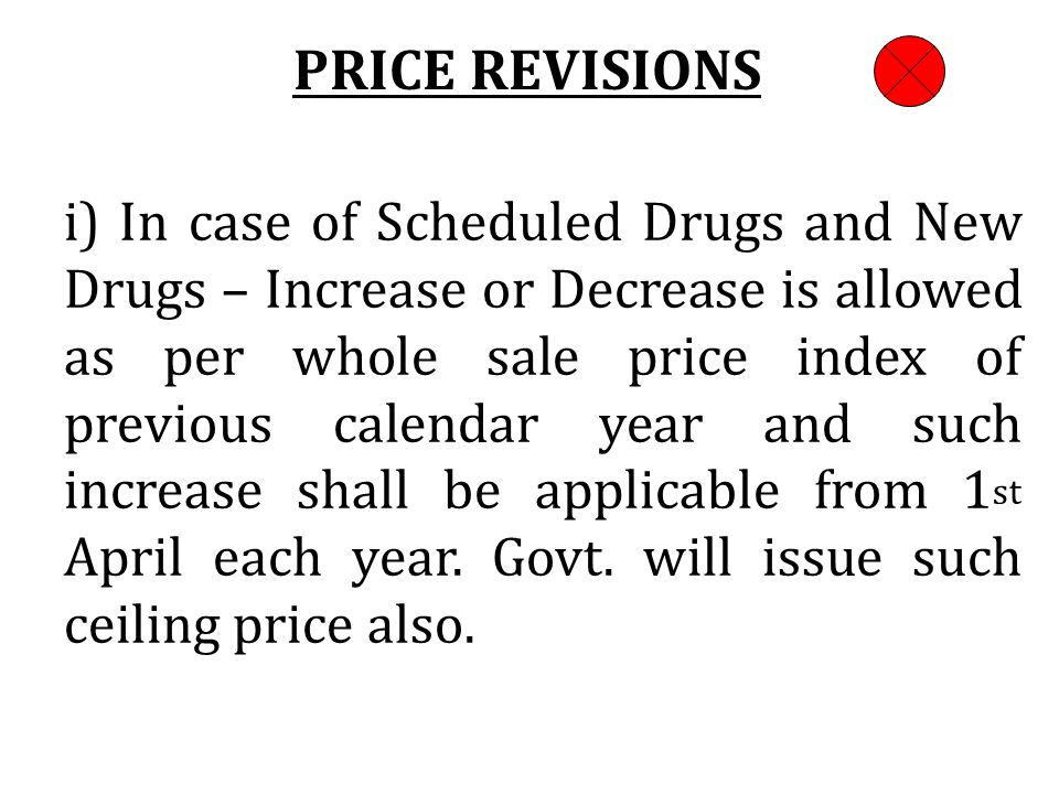 PRICE REVISIONS