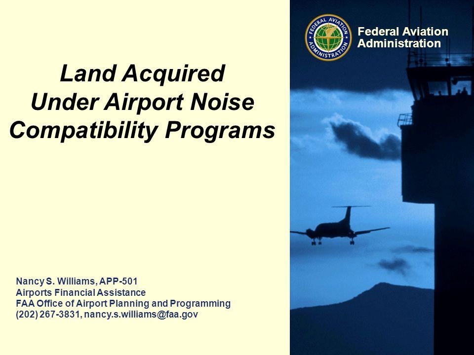 Under Airport Noise Compatibility Programs