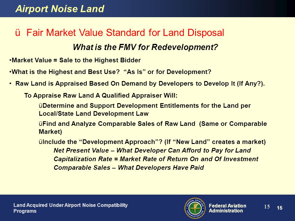 What is the FMV for Redevelopment