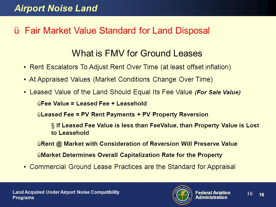 What is FMV for Ground Leases