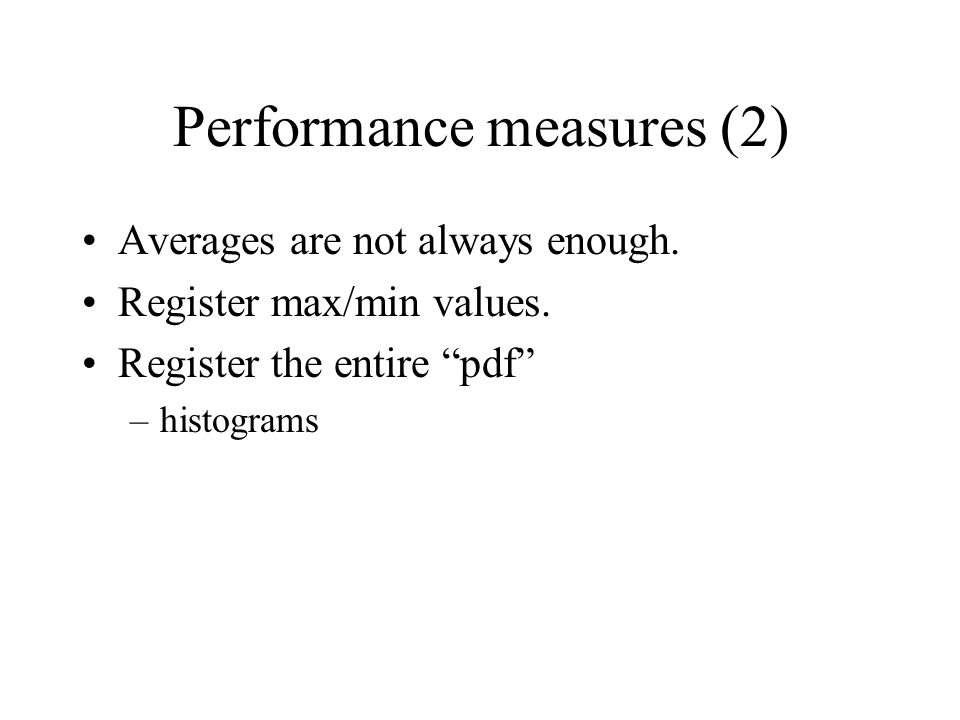 Performance measures (2)