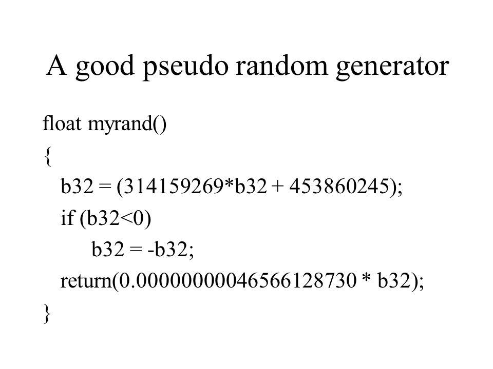 A good pseudo random generator