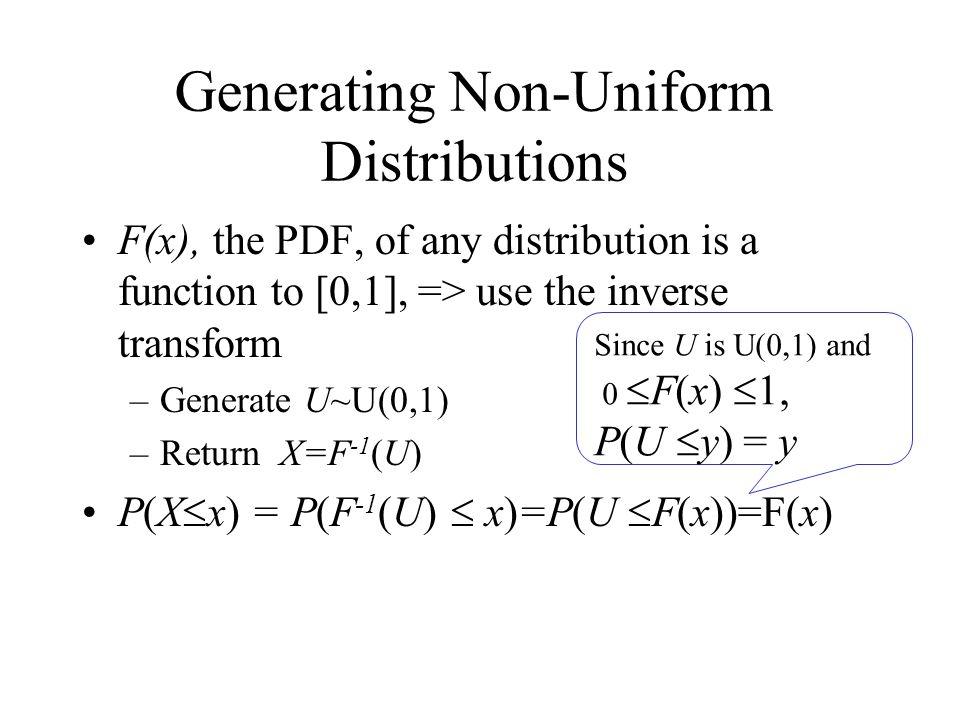 Generating Non-Uniform Distributions