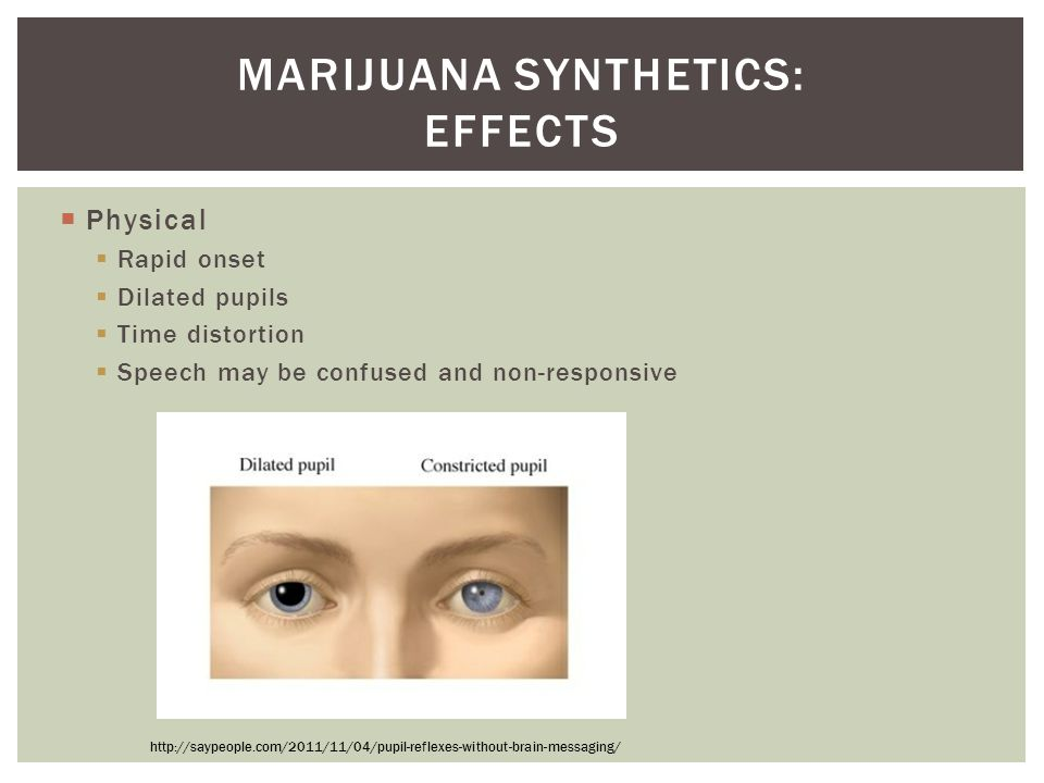 Marijuana synthetics: Effects