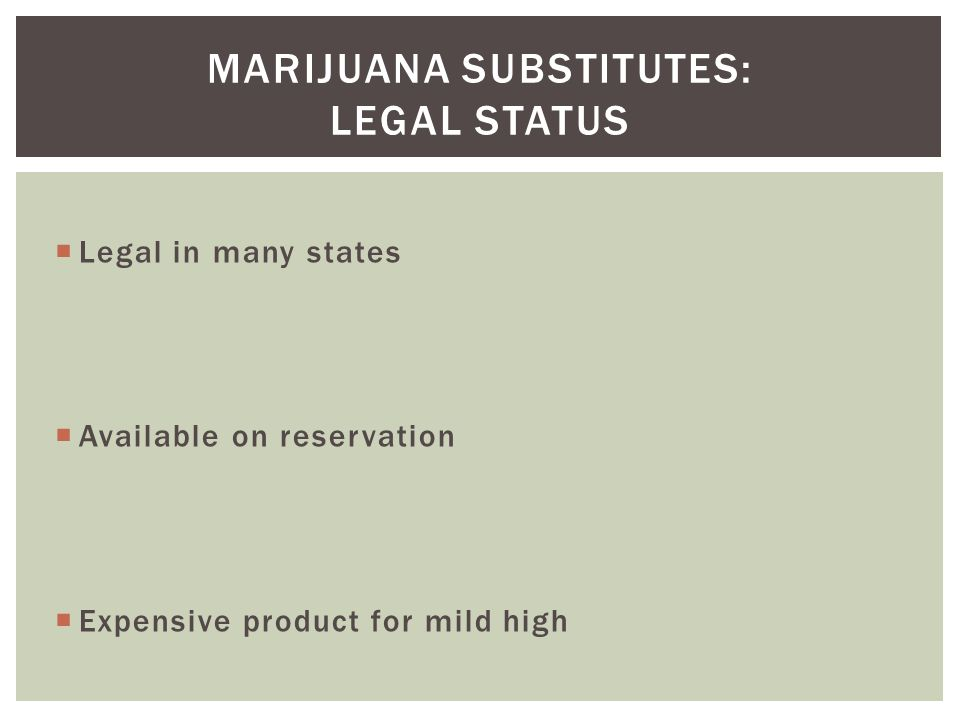 Marijuana substitutes: Legal Status