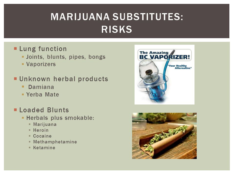 Marijuana substitutes: risks