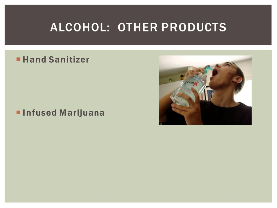 Alcohol: Other products