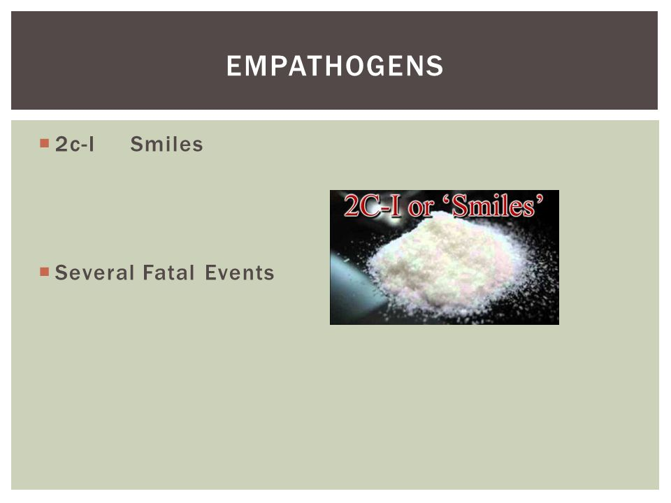Empathogens 2c-I Smiles Several Fatal Events