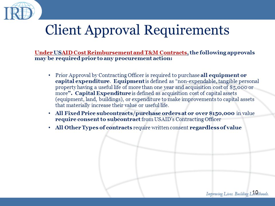 Client Approval Requirements