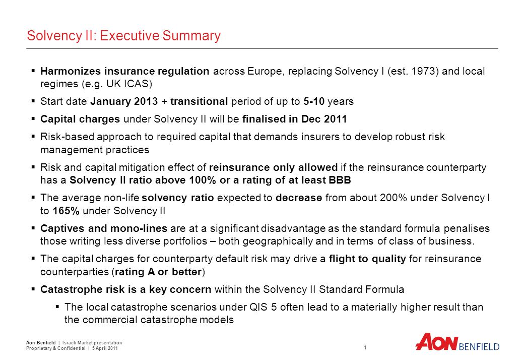 Section 1 Summary Conclusions QIS 5