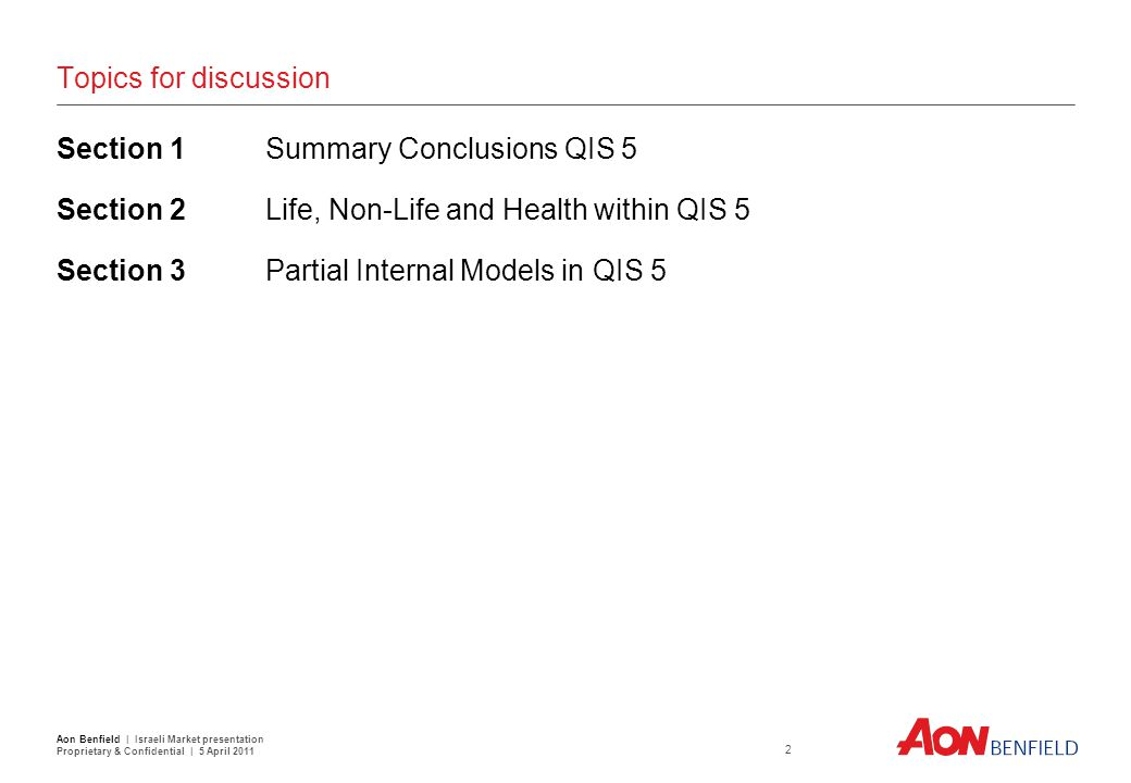Section 1: Summary Conclusions QIS 5