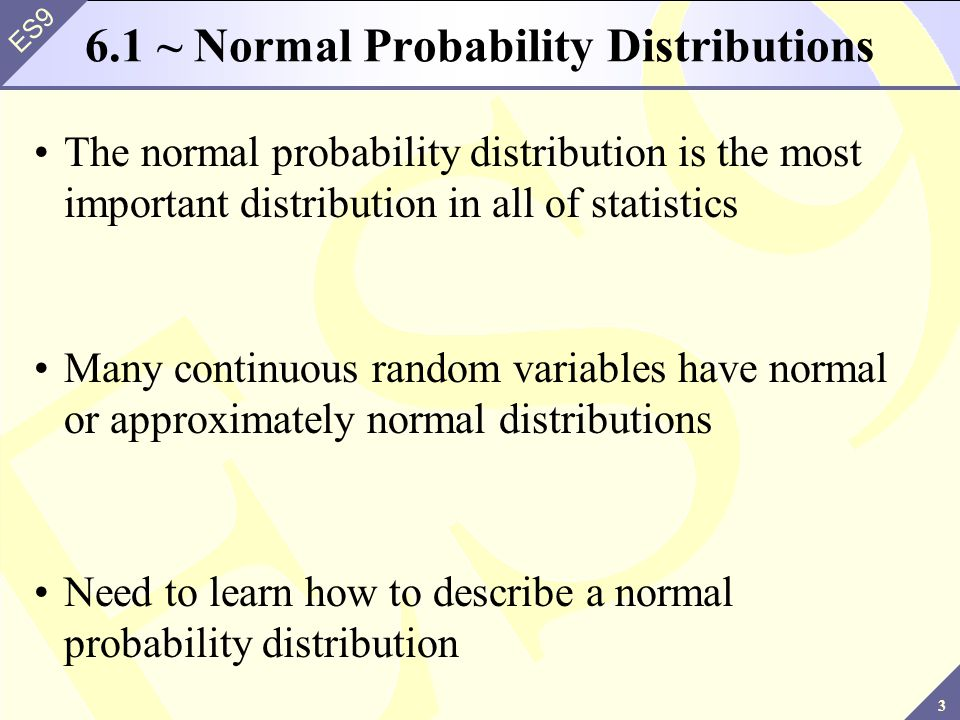 6.1 ~ Normal Probability Distributions