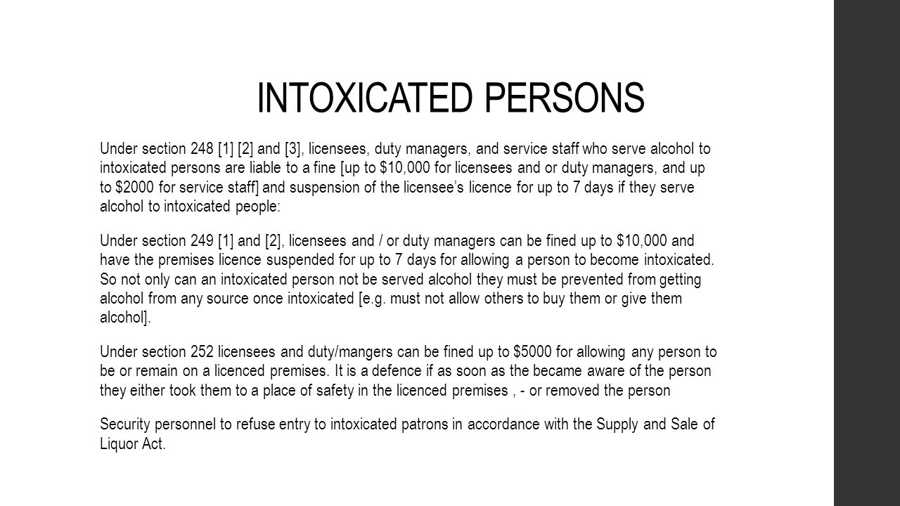 INTOXICATED PERSONS