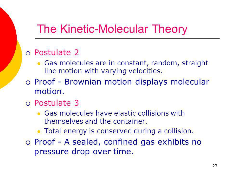 The Kinetic-Molecular Theory
