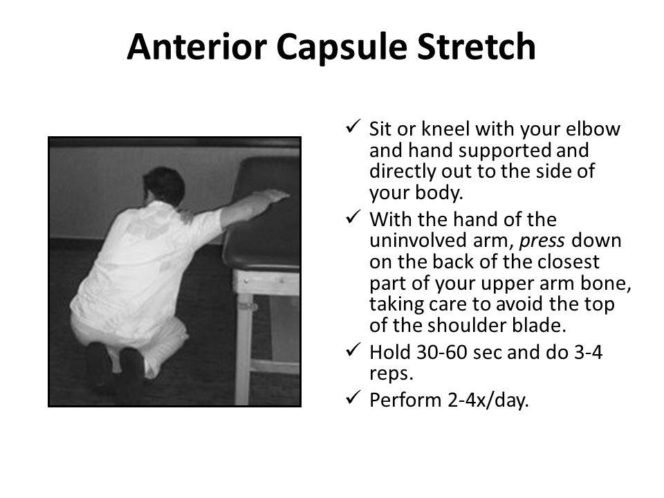 Anterior Capsule Stretch