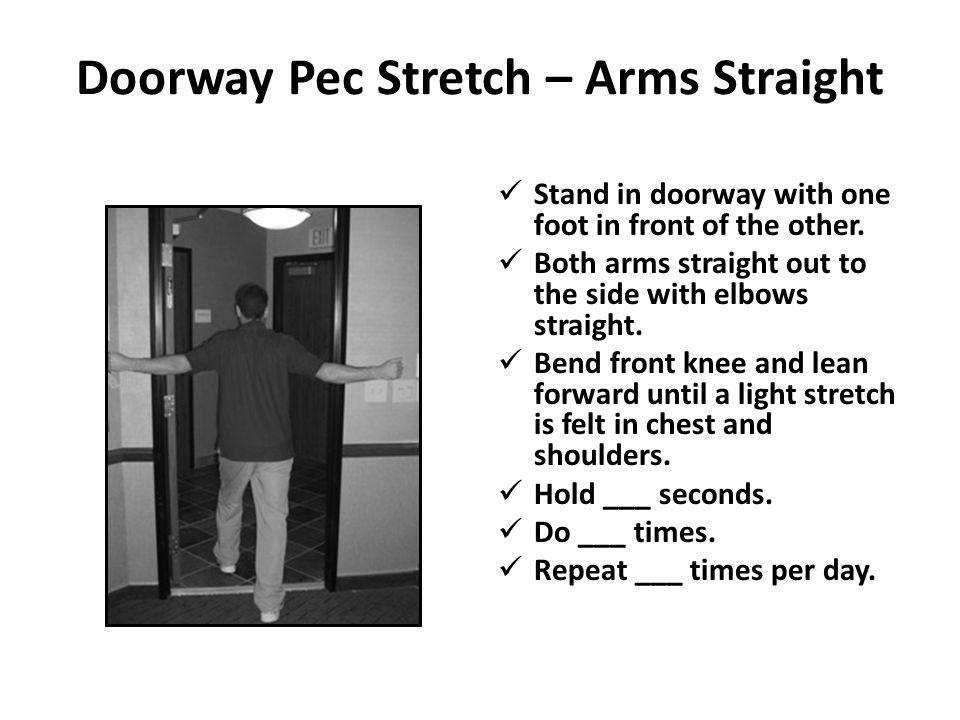 Doorway Pec Stretch – Arms Straight