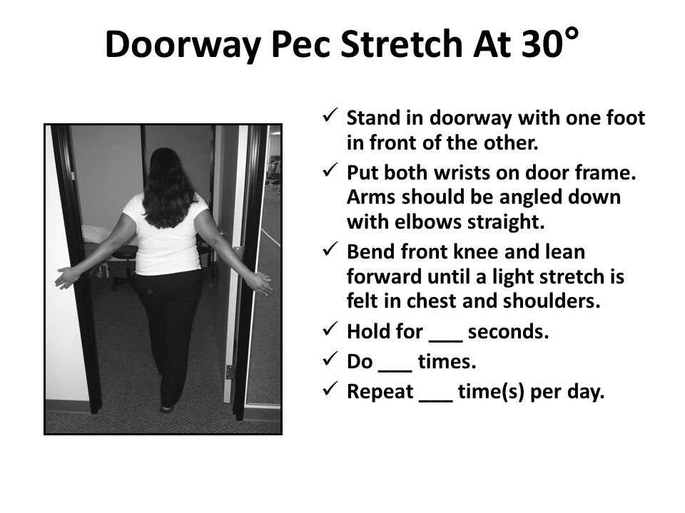 Doorway Pec Stretch At 30°