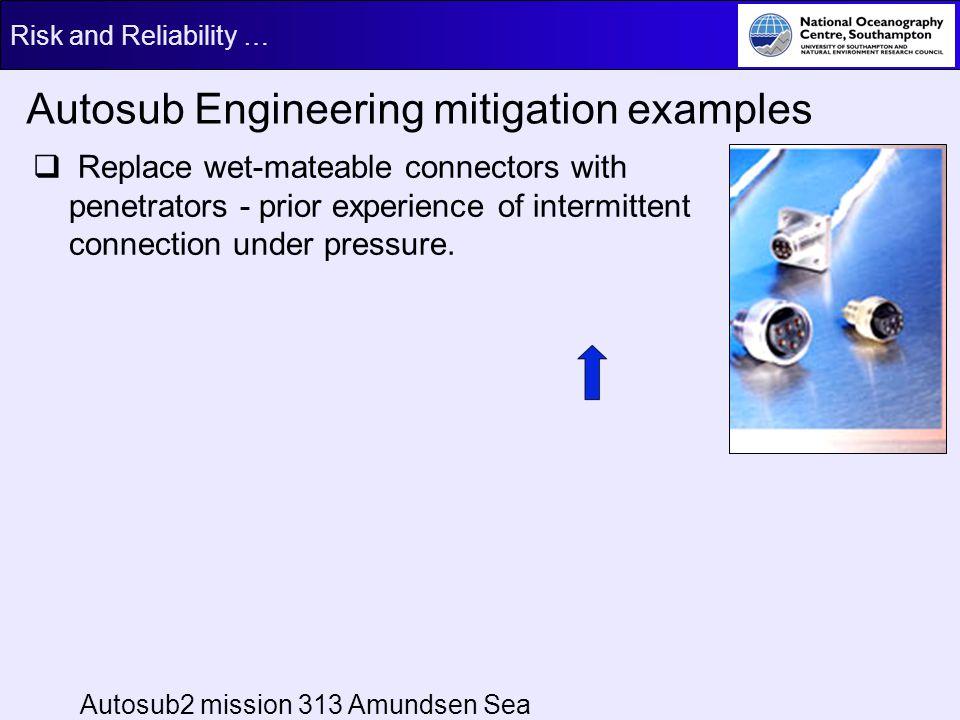 Autosub Engineering mitigation examples