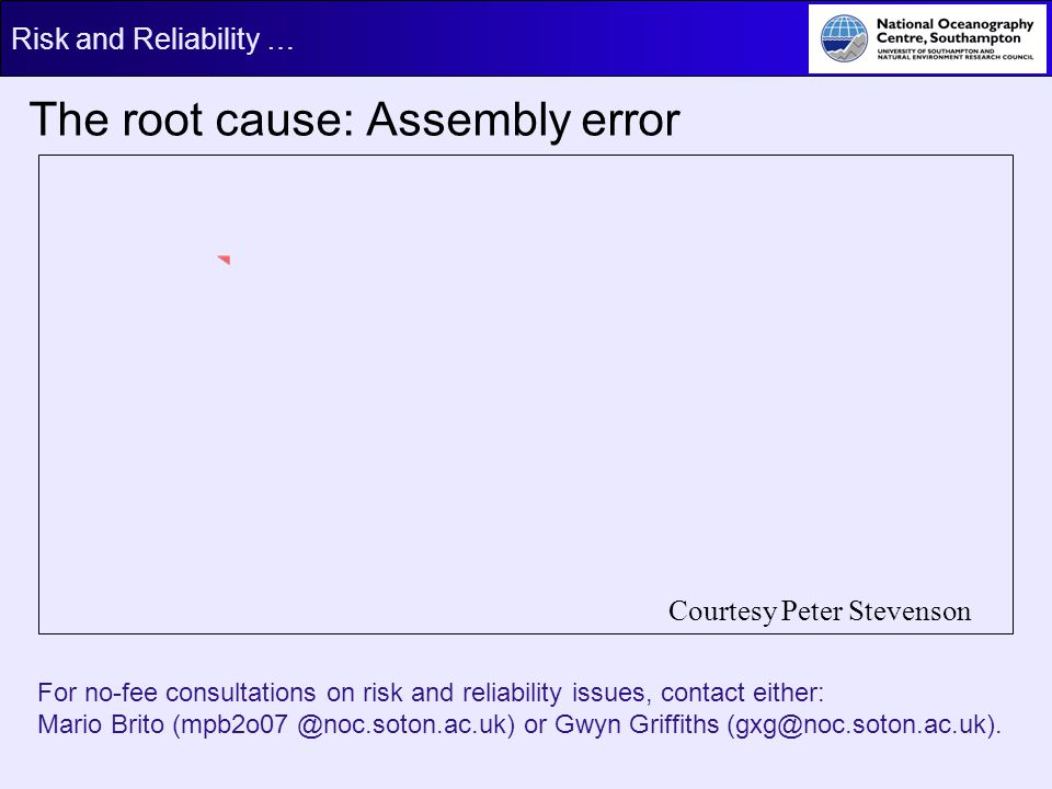 The root cause: Assembly error