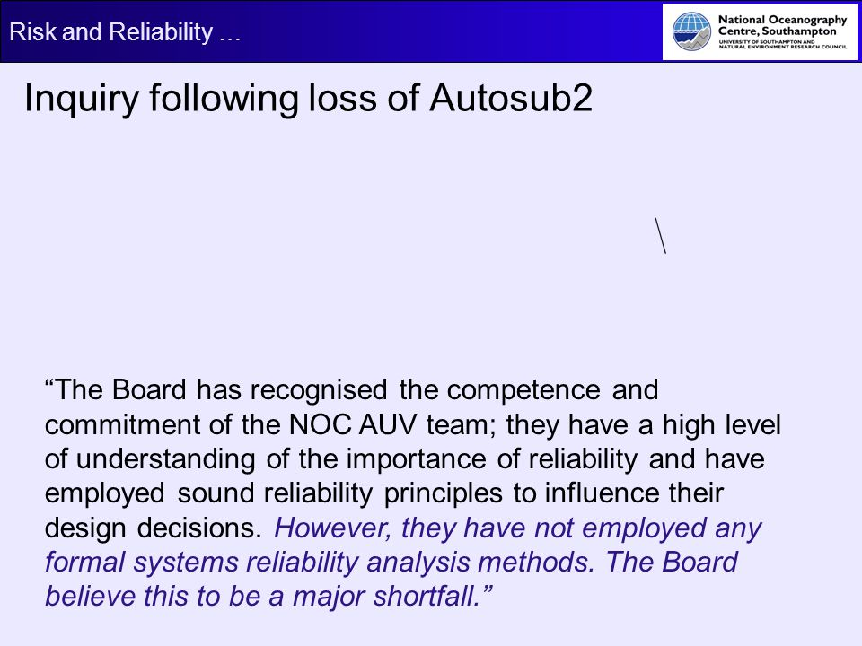 Inquiry following loss of Autosub2