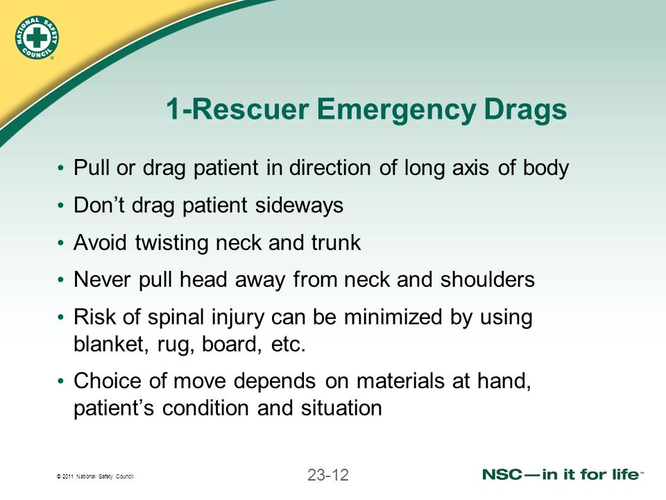 1-Rescuer Emergency Drags