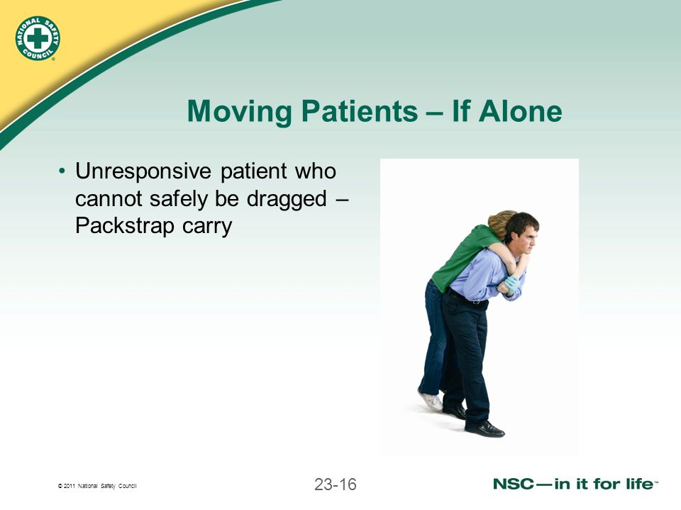 Moving Patients – If Alone
