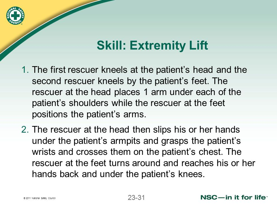 Skill: Extremity Lift