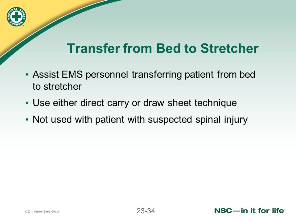 Transfer from Bed to Stretcher
