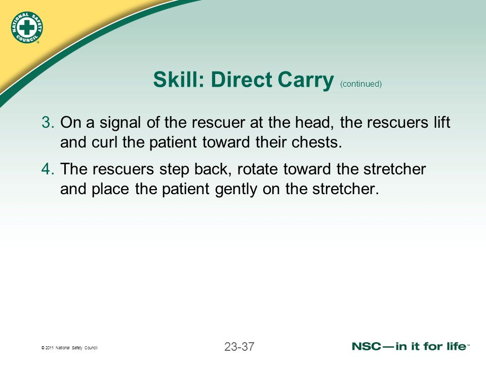 Skill: Direct Carry (continued)
