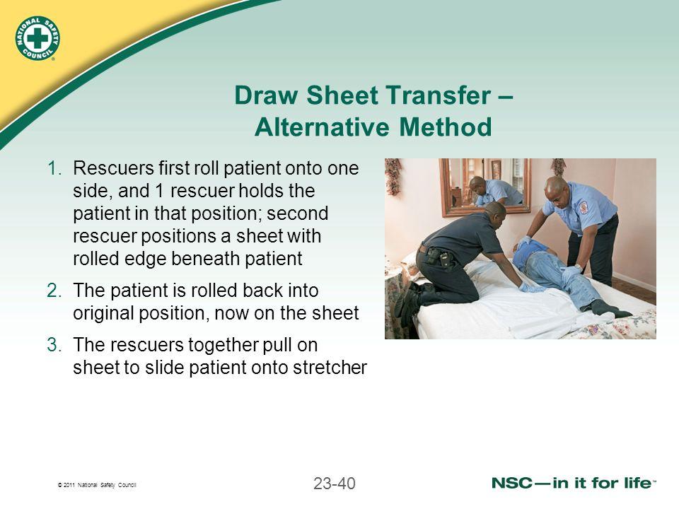 Draw Sheet Transfer – Alternative Method