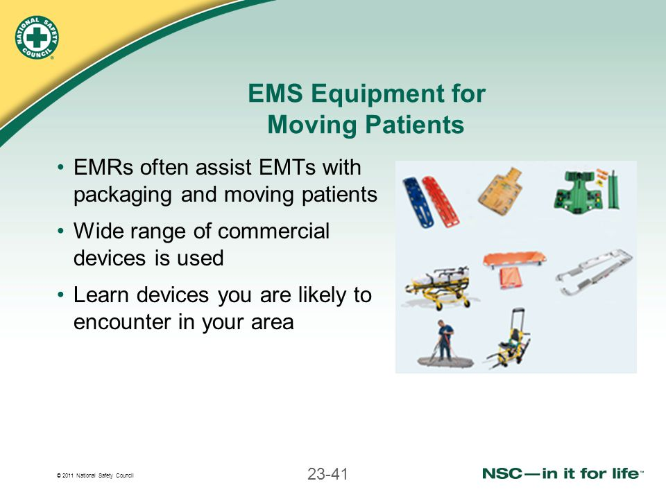 EMS Equipment for Moving Patients