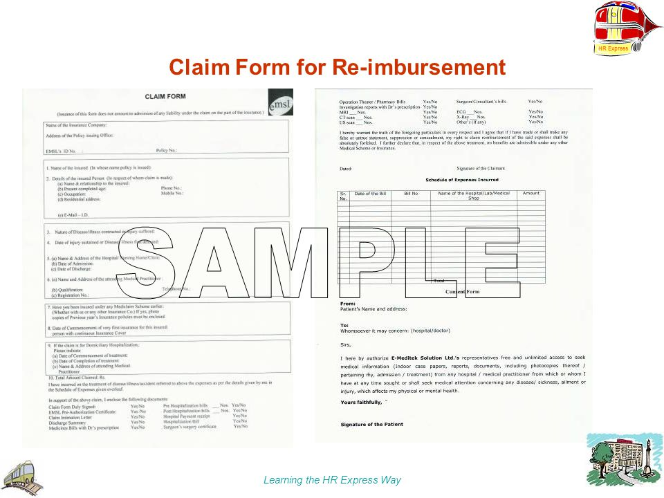 Claim Form for Re-imbursement