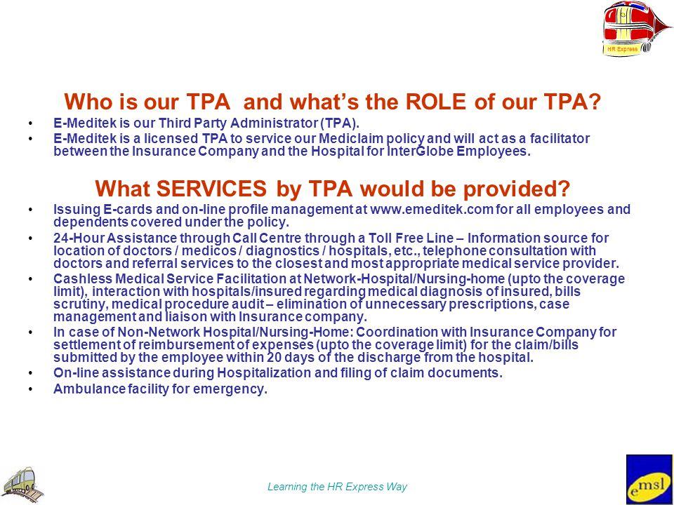 Who is our TPA and what's the ROLE of our TPA