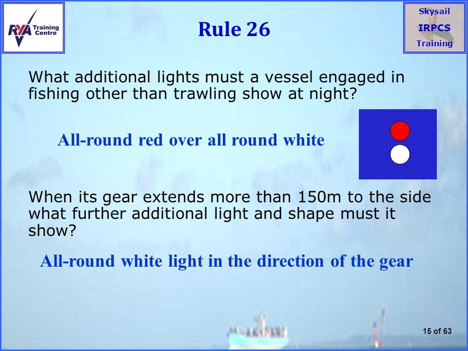Rule 26 All-round red over all round white