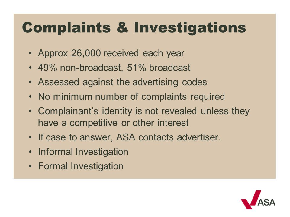 Complaints & Investigations