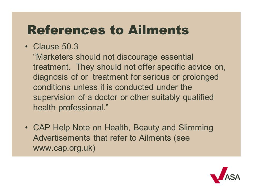 References to Ailments