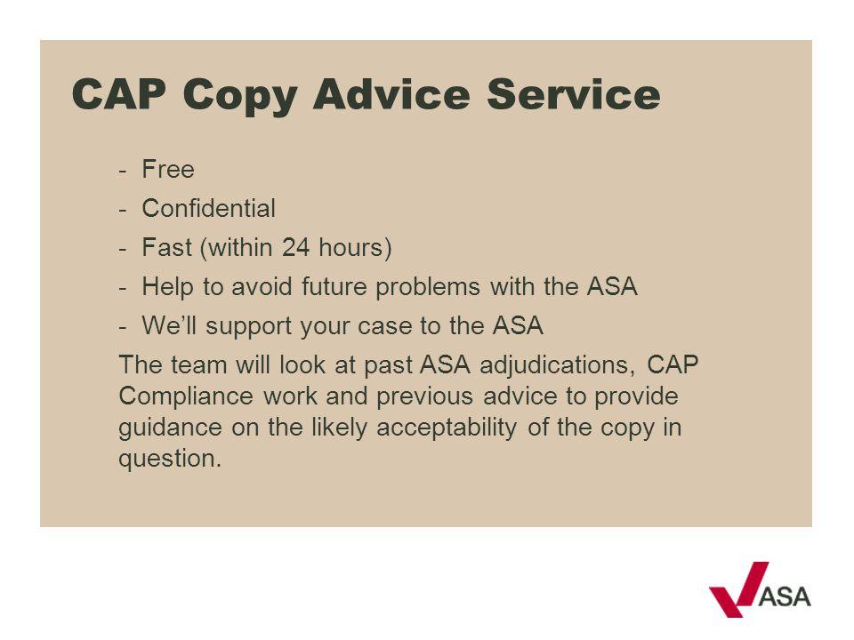CAP Copy Advice Service