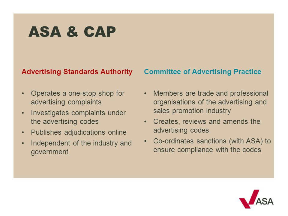 ASA & CAP Advertising Standards Authority