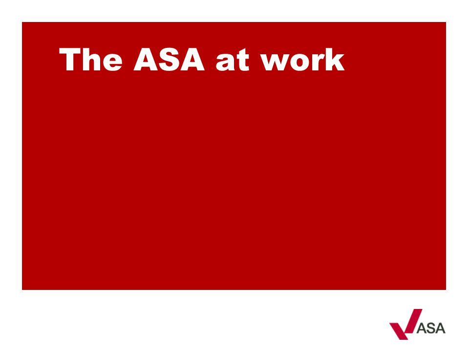 The ASA at work