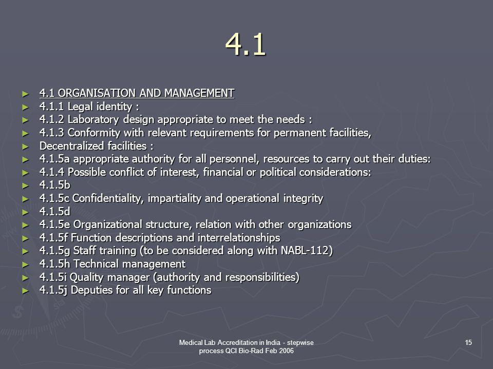 4.1 4.1 ORGANISATION AND MANAGEMENT 4.1.1 Legal identity :