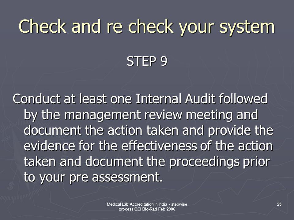 Check and re check your system